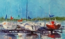 Harbor - Oil Painting